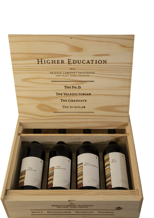 2016 Howell Mountain Cabernet Sauvignons Combo 4 pack with Wooden Box